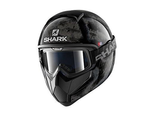 Shark 2245_24718, Caschi Moto VANCORE Flare KSK-S Uomo, Nero/Argento, S