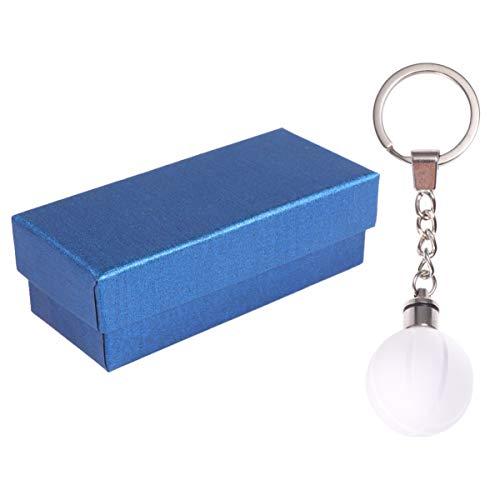 KESYOO Basketball Schlüsselanhänger 7 Farbe Lichter Leuchten Globus Schlüsselbund Party Begünstigt Lieferungen mit Aufbewahrungsbox