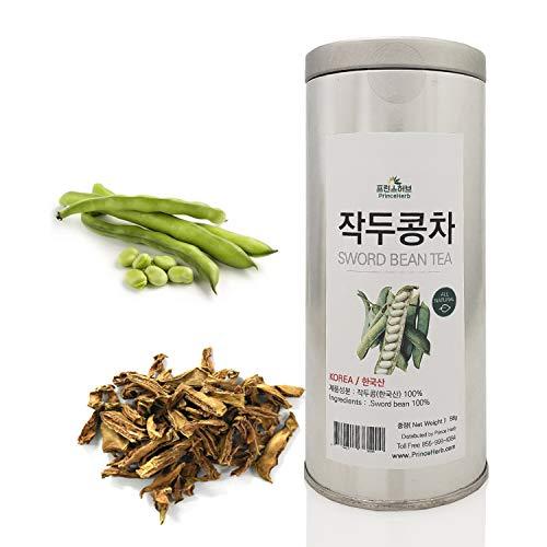 [Medicinal Korean Herb] Sword Bean Tea in a Gift Tin Caddy (Canavalia Gladiata/작두콩 차) Dried Bulk Herbs 58g (2 oz)