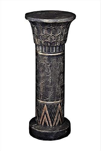 Antikes Wohndesign Standsäule Blumensäule Ägyptische Säule Podest Antik Spalte Skulpture