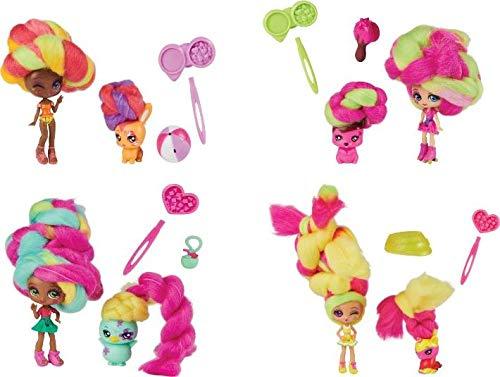 Candylocks 6056831 2-Pack, Lemon Lou Twist 7,5-cm Geurende Verzamelpop en Huisdier met Accessoires, Verschillende kleur