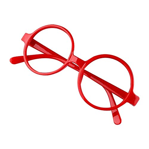 Kerhcusde Retro Nerd Stil Nettes Baby Runde Brillengestell Keine Linsen Candy Farbe Kunststoff Mutter Tochter Cosplay Party Kostüm Brillen