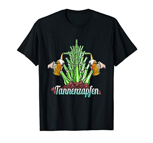 Bier Tannenzapfen Bierflasche Brauen Witzige Sprüche T-Shirt
