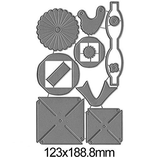 nonbrand Stanzformen 3D Windrad Bogenknotenrahmen Metallschneidwerkzeuge für DIY Craft Making Card Scrapbooking Dekorative Prägeschablonen