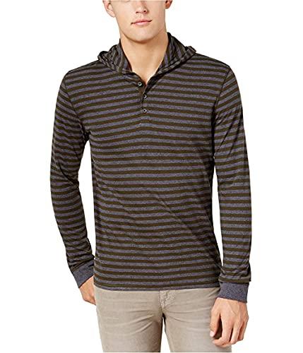 Bar III Henley - Camiseta de manga corta para hombre - Verde - Large