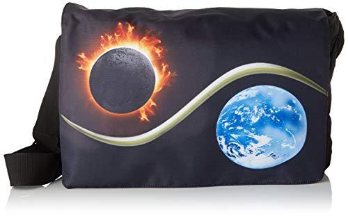 Luxburg® Design Umhängetasche, Umhängetasche, Umhängetasche, 17,3 Zoll, Motiv: Mond & Sonne, Yin & Yang