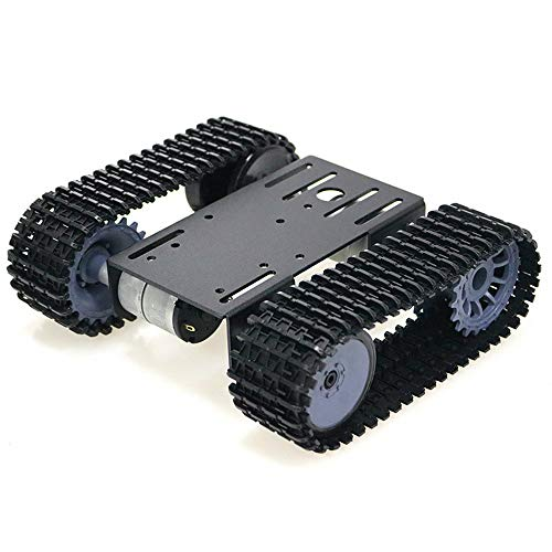 KKmoon Tracked Robot Smart Car Platform Robotics Kits Robot Tank Crawler Chassis DIY Kit Solid Robotic Platform Tank Mobile Platform Robotic Toy Platform Compatible with Arduino