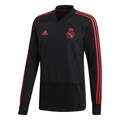 adidas 2018-2019 Real Madrid Ultimate Training Top (Black/Real Coral) (L)