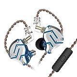 KZ ZS10 Pro 4BA+1DD Hybrid 10 Drivers HiFi Bass Auriculares con cable con micrófono In-Ear Monitor Auriculares deportivos con cancelación de ruido (azul deslumbrante)