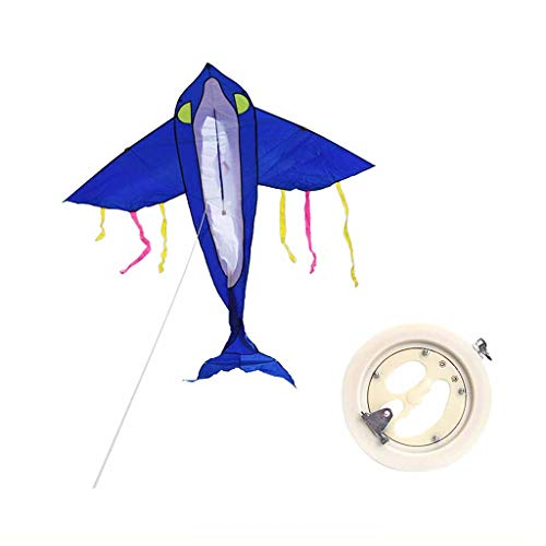 BECF Dolphin Gran Océano Delta Kite Fácil Montar, Lanzamiento, Mosca Superior Calidad, Ideal Playa Utilizar Mejor Cometa Cada Uno Las Muchachas, Muchachos, Adultos, Principiantes Y Profesionales