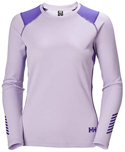 Helly-Hansen Womens LIFA Active Crew Base Layer Shirt, 697 Lilatech, Medium