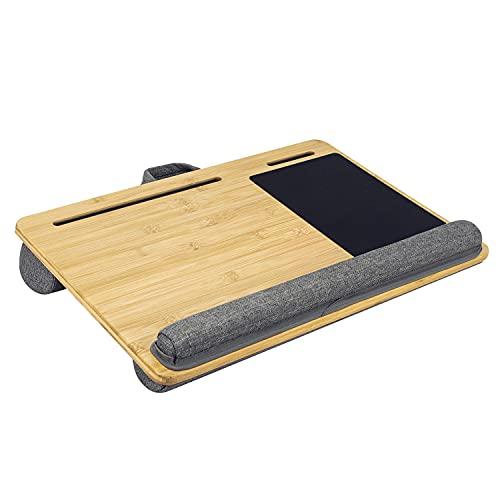 NewZeal膝上テーブルラップデスク竹製ノートパソコンデスクマウスパッド付き膝上ラップトップテーブル(550x360mm)