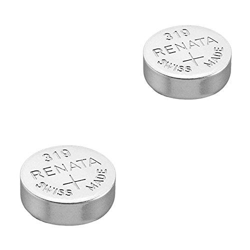 RENATA Lot de 2 Blisters de 1 Pile bouton oxyde argent X319 SR527SW