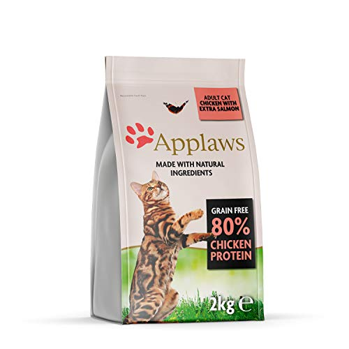 Applaws Grain Free Dry Cat Food, Chicken and Salmon, 2kg