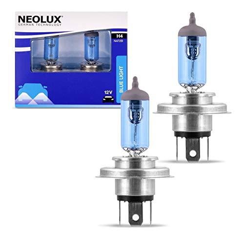 Neolux Lot de 2 ampoules halogènes pour phares halogènes N472B-2SCB 4000 K 12 V 60 55 W Bleu