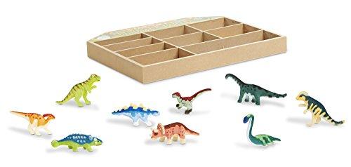 Melissa & Doug Dinosaur Party Fiesta de Dinosaurios, Set de Figuras de Juego, 9 Dinosaurios Miniaturas…