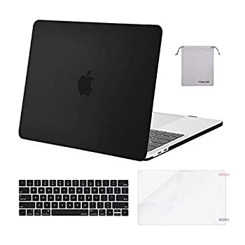 MOSISO Compatible with MacBook Pro 13 inch Case 2016-2020 Release A2338 M1 A2289 A2251 A2159 A1989 A1706 A1708 Plastic Hard Shell Case&Keyboard Cover Skin&Screen Protector&Storage Bag Black