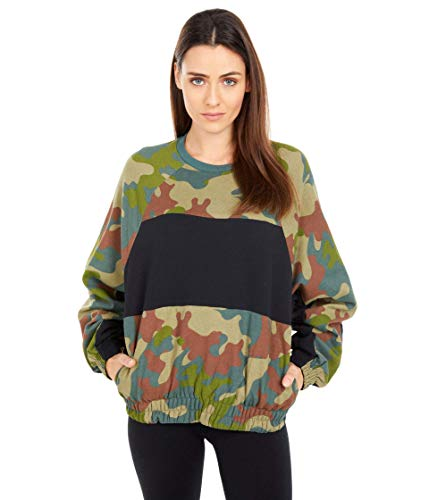 Hurley One and Only Dolman Fleece Crew Vintage Green LG (US 11)