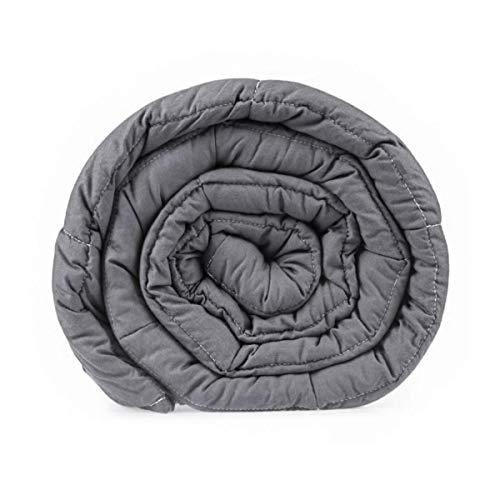 GOPLUS Gewichtsdecke Schwerkraftdecke Schwerkraft-Decke Gewichtete Schwere Decke Beschwerte Decke Schlafdecke aus Baumwolle (122X185CM, 5.5) - 2