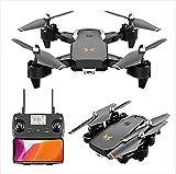 JJDSN 4DRC Holy Stone Drone con videocamera 4K per Adulti, Mini Drone Pieghevole Motore Brushless Trasmissione WiFi 5G FPV Live Video Drone Quadcopter con Ritorno Automatico a casa 2 batterie 30 m