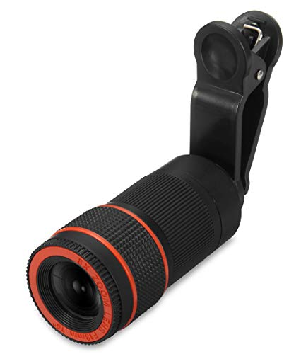 Buddymate QAS756 HD Zoom Quality Telescope Lens with Blur Background and Universal Clip Holder, DSLR Camera Compatible with All Devices [Multi Color]