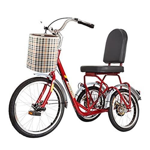 Jlxl Triciclo para Adultos 3 Bicicletas para La Tercera Edad Mujeres Hombres con Cesta para IR De Compras Al Aire Libre Picnic Deportes Ciclismo