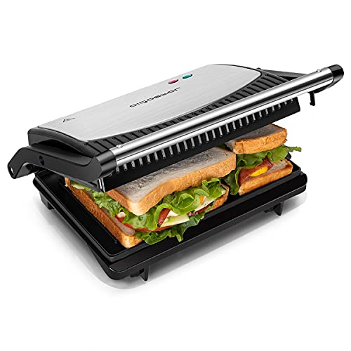 Aigostar Sandwich Panini Press, Non-Stick Plates Sandwich Toaster Maker,...