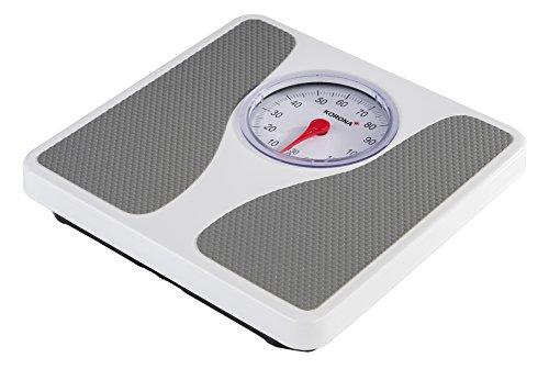 Korona 76660 Louis - Báscula mecánica precisa para personas de hasta 130 kg, báscula analógica, color blanco
