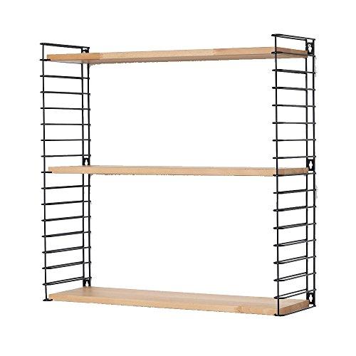 Tomado Zeitloses und modulares Wandregal, Holz, Wood/Black, 70x21x68 cm