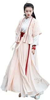 Women's Ancient Chinese Style Costume Traditional Retro Hanfu Cosplay Dance Performances Dress,L