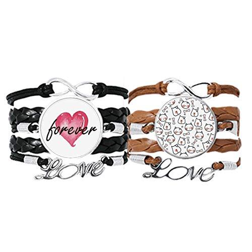 Bestchong Armband für Katzen und Hunde, Knochenschutz, für Tierliebhaber, mit Handschlaufe und Lederseil, Doppel-Set