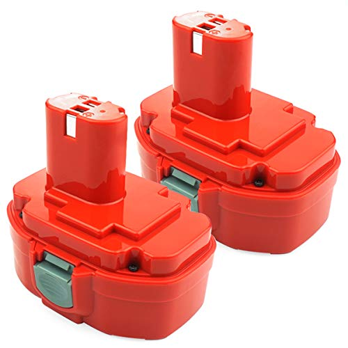 ADVNOVO 2 Pack 18V 3.5Ah Ni-MH Battery Compatible with Makita PA18 1822 1823 1834 1835 192826-5 192827-3 192829-9 193159-1 193140-2 193102-0 4334D 5026DA 5036DA 5046DA 6343D 6347D 8390D 8391D