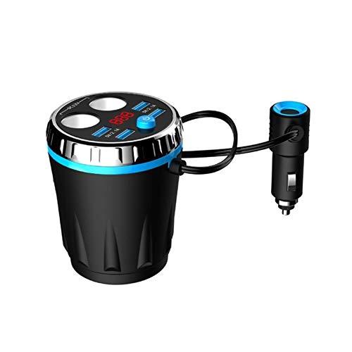 XIAOQIN BOMY MAX 5V 3.1A 4 Cargador de automóvil USB Fit para iPhone Fit para Samsung Tablet Dual Cigarette Encendedor Electric Lighter Socket Splitter Cup Cup (Color Name : Blue)