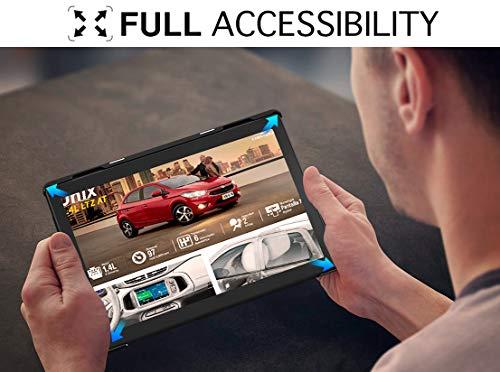 MoKo Hülle Kompatibel mit Lenovo Tab M10 (TB-X605F)/TB-X505F, Ultra Slim PU Leder Tasche Schutzhülle Standfunktion Kompatibel mit Lenovo Tab M10 (TB-X605F) 10.1 2018 / TB-X505F - Schwarz