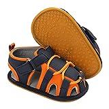 Newborn Infant Baby Boys Girls Sandals Anti Slip Rubber Flexible Sole baby Shoes Summer Outdoor Beach Sandals Toddler First Walker Crib Shoes 0-18 Months