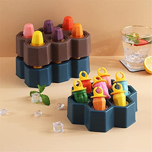 Moldes Helados, fabricante de paletas de anillo, moho de helado ideal para la dentición Hogar de cocina reutilizable para niños, niños pequeños y adultos