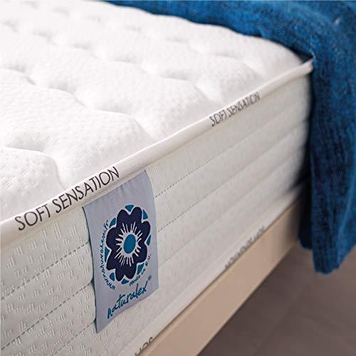 Naturalex | Soft Sensation | Matratze 70x190 cm | Bestes Mehrschicht-System Aero Latex | Ergonomisches Memory Foam Plus 7 Zonen | Anti-Druckstellen | Massierende Wirkung Regenerativ + Formstabil