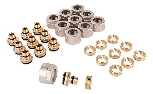 WIROFLEX® | Klemmring-Adapter für WIROFLEX®-Rohr | 10er Set | Schraubsystem | Fitting | 1/2 A x 16 mm | Für Mehrschichtverbundrohr