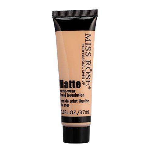 MISS ROSE Base Face Liquid Foundation Smooth Makeup Matte Wear Concealer Sun Block Cream(#6)
