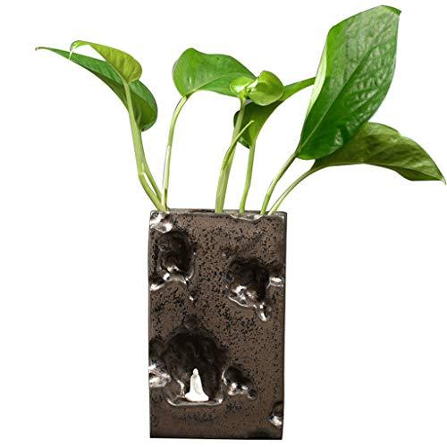 Ornements décoratifs Eau verte créative Vase hydroponique Récipient pour fleurs Plante aquatique Plante Fleurs Fleurs Pot de fleurs (Couleur : Brown)