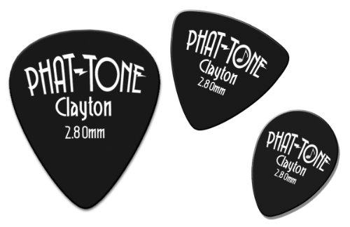 6/ plettri CLAYTON Ctbp//6/ Thumbpick celluloide rosso//bianco//blu