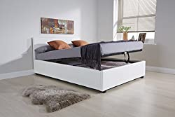Stylishly designed, twin gas lift Ottoman Storage Bed. Finished in Soft Faux Leather with Headboard Included. Sprung Slat Base - Quality Gas Lift Mechanism Available in an assortment of sizes and colours. Delivered flatpacked for simple home assembly...