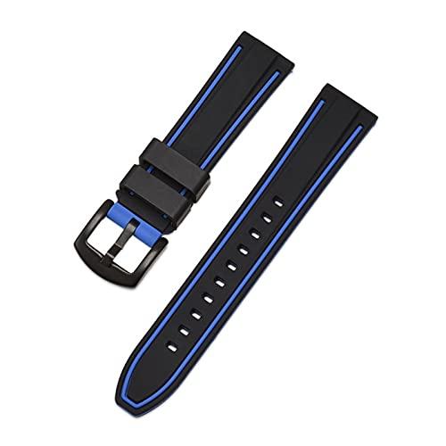 YQSBYI Deportes Impermeable Correa de Silicona de Dos Colores Relojase de liberación rápida Cadena de Reloj Adecuada para 20 / 22mm Smart Strap Watch Accessories 24mm, 26mm