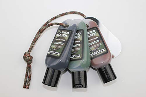 Carbomask 1 oz. Three-Pack: Black, Green, Brown