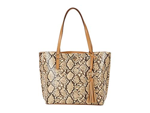Anne Klein Snake Carryall Tote Latte One Size