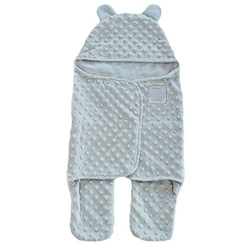 Couverture d'emmaillotage pour bébé Soft Touch Bubble Mink (Gris)