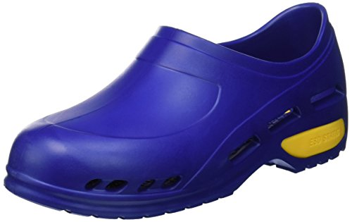 Gima - Zapato de trabajo profesional ultraligero, aireado, anatómico, antichoque, antideslizante, antiestático, sin látex, color azul, talla EU 35, 1 par.