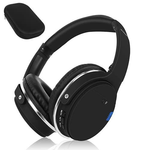 UrbanX UX35 Wireless Industry Leading Overhead Headphones with Mic for Vodafone Smart First 7 Phone Call and Audio, Black