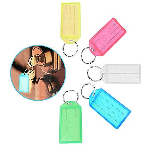 20 Stück Schlüsselanhänger beschriftbar,Schlüsselanhänger zum Beschriften Schlüssel Beschriftung Anhänger Kunststoff Etikett Key Label,Schlüsselschilder Markieren von Schlüssel,Koffern,Haustieren