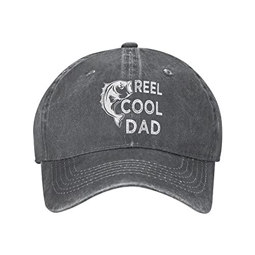 Jopath Reel Cool Dad Hats, Vintage Denim Gorra de béisbol de algodón para papá, sombrero de sándwich ajustable unisex, ^^, Talla única